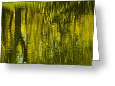 Autumn Water Reflection Abstract IIi Greeting Card