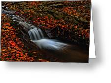 Autumn Waterfall Greeting Card