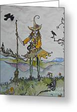 Autumn Witch Greeting Card
