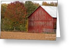 Autumnal Barn Greeting Card