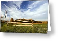 Autumnal Evening Greeting Card