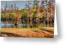 Autumn's Beauty And Reflection Greeting Card