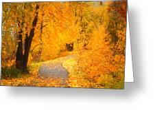 Autumn's Golden Corner Greeting Card