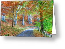 Autumns Way Vert Greeting Card by John Kelly