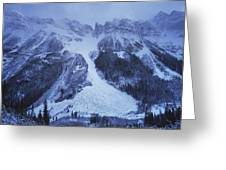 Avalanche Greeting Card