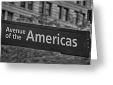Avenue Of The Americas Greeting Card