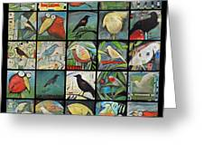 Aviary Poster Greeting Card