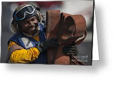 Aviation Boatswains Mate  Carrying Greeting Card