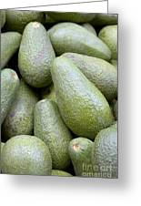 Avocado Greens Greeting Card by Steve Outram