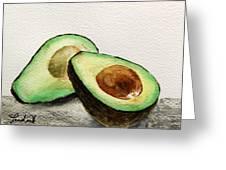 Avocado Greeting Card by Prashant Shah