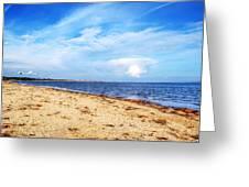 Avon Beach At Mudeford In Dorset Greeting Card