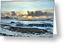 Awash In The Sea Greeting Card