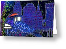 Azul Greeting Card