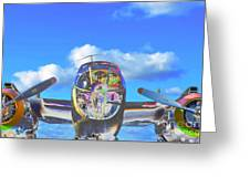 B-25j Jazzed Greeting Card by Lynda Dawson-Youngclaus