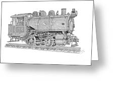 B And O Steam Switcher Greeting Card
