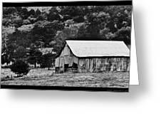B N W Barn Greeting Card