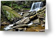 B Reynolds Falls Greeting Card by Frozen in Time Fine Art Photography