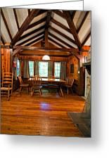 Babcock Cabin Interior 2 Greeting Card