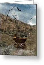 Baby Buggy In Wilderness Greeting Card