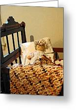 Baby Doll In Crib Greeting Card