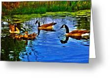 Baby Ducks Greeting Card by Sergio Aguayo