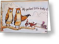 Baby Owls One Greeting Card