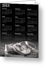 Baby Shoes Calendar 2013 Greeting Card