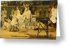 Bacchanal Greeting Card by Sir Lawrence Alma-Tadema