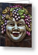 Bacchus God Of Wine Greeting Card