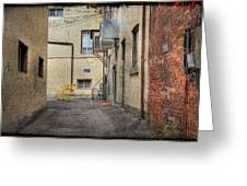 Back Alley Cityscape Greeting Card