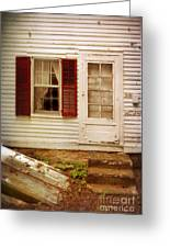 Back Door Of Old Farmhouse Greeting Card