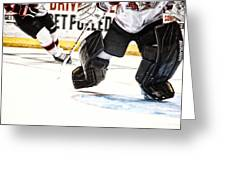 Back To The Crease Greeting Card