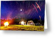 Back Yard Camping Greeting Card by Aaron Priest