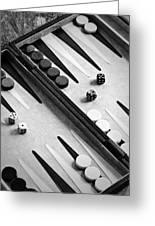 Backgammon Greeting Card by Joana Kruse