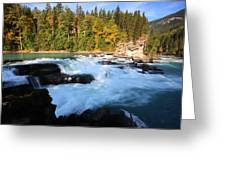 Backguard Falls On Fraser River In British Columbia Greeting Card by Mark Duffy