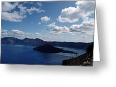 Backside Of Crater Lake Greeting Card