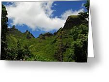 Backside Of The Napali Coast Greeting Card