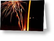 Backyard Fireworks 2012 1 Greeting Card