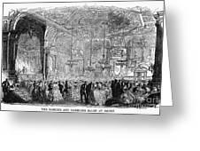 Baden-baden: Salon, 1858 Greeting Card