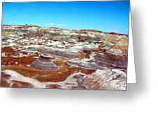 Badlands In The Painted Desert Greeting Card