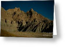 Badlands Moonlight Greeting Card by Chris Brewington Photography LLC