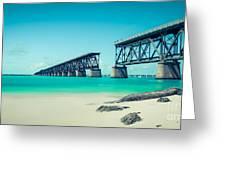 Bahia Hondas Railroad Bridge  Greeting Card