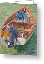Bailey's Bay Fishing Dinghy Greeting Card
