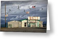 Bait Shop By Aransas Pass In Texas Greeting Card