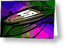 Baja Speed Boat Greeting Card