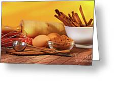 Baking Ingredients Greeting Card