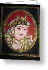 Bal Krishna Greeting Card by Asha Nayak