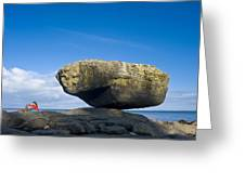 Balance Rock, British Columbia Greeting Card