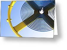 Balance Wheel Of A Watch, Artwork Greeting Card