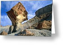 Balancing Rock Caused By Water Erosion Greeting Card by G. Brad Lewis